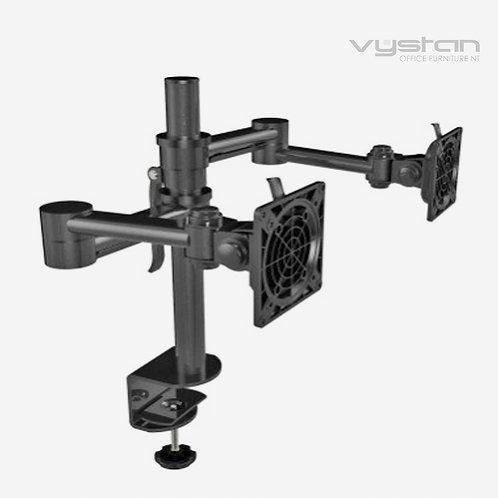 VX VI-HD Dual Monitor Arm Black