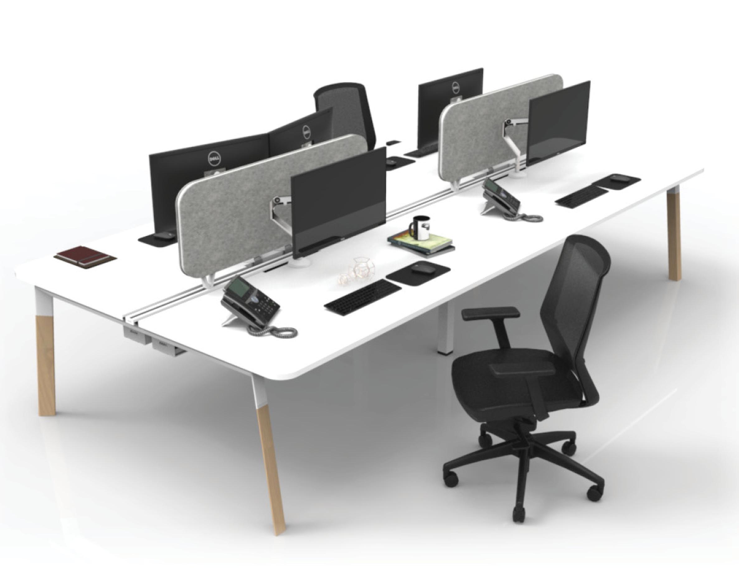V6 blade desk with insert rail