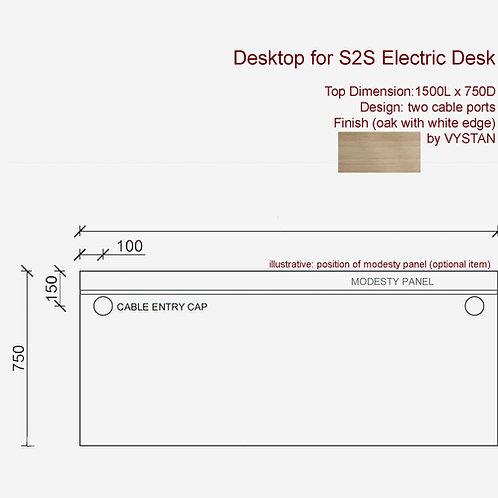 VX S2S Desktop 1500 x 750 (oak)