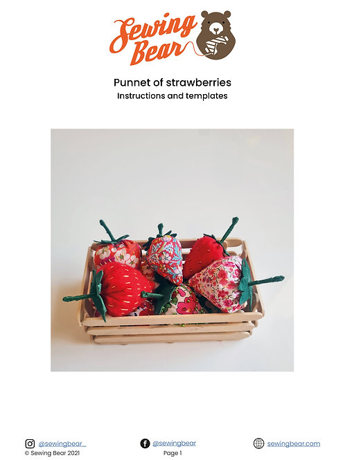Punnet of strawberries downloadable instructions