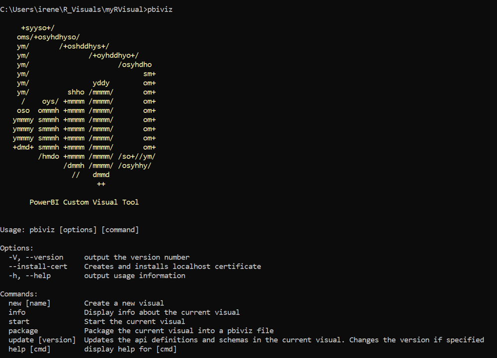 The insallation prompt of Power BI custom visual tool