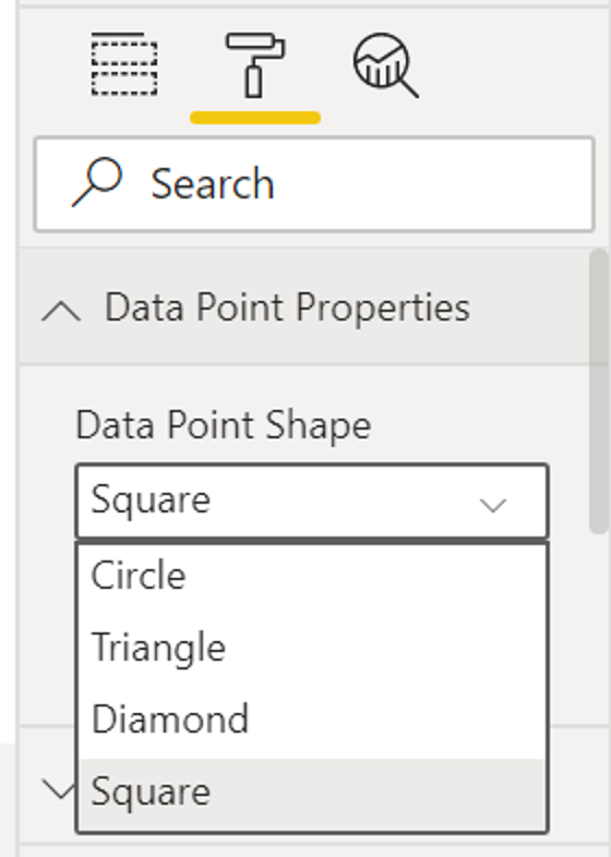The image shows the result of the implementation of customization through R to Power BI.