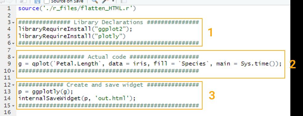 Description of content of R script for custom Power BI visual