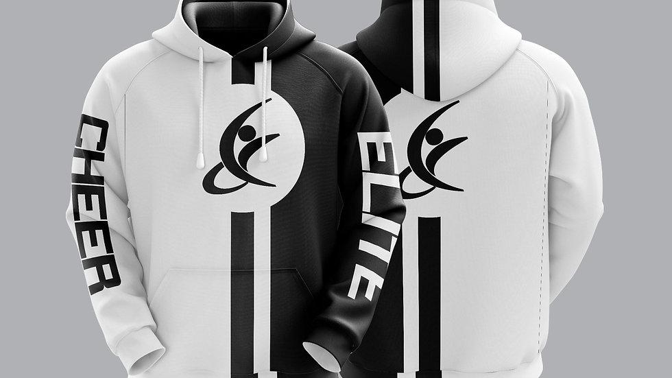 black and white hoodie