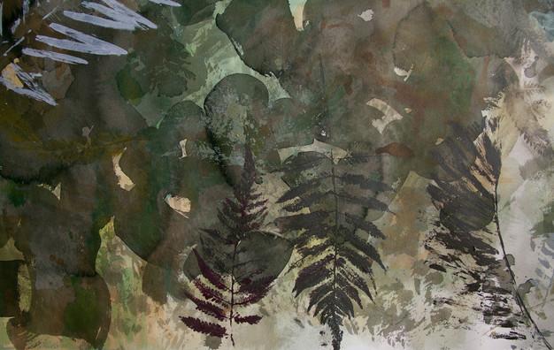 """Plants Ghosting (Pre-Angiosperm Relics, Summertime)"" (detail shot)"