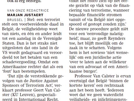 'België gaat binnen kortste keren rechtszaak krijgen'