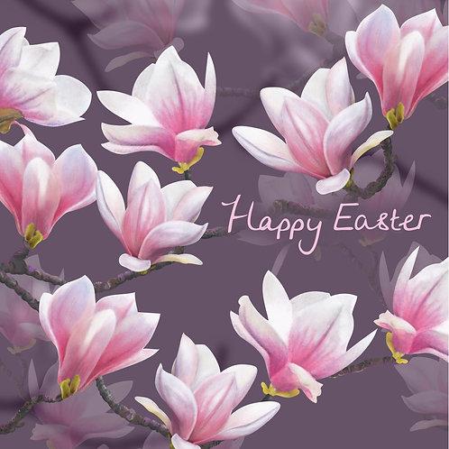 Flower Art / Floral Easter Card 'Majestic Magnolia' (Blossoms)