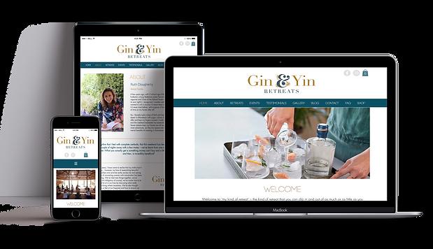 Gin & Yin Retreats Mock-Up