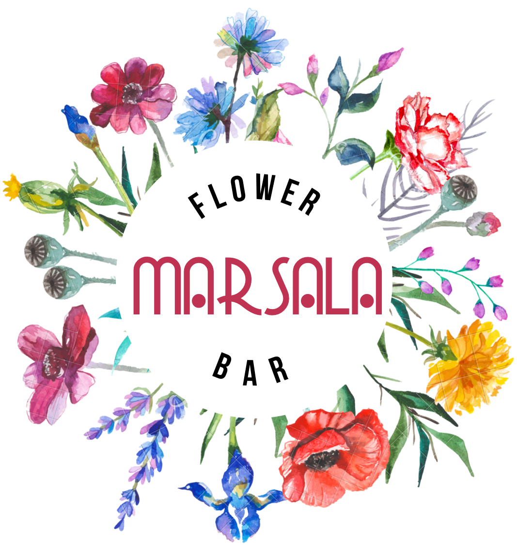 Marsala Flower Bar