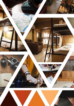The Den City Hostel Moodboard