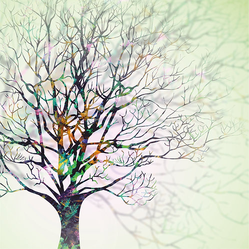 Flower Art / Floral Greeting Card 'Wintry Tree'