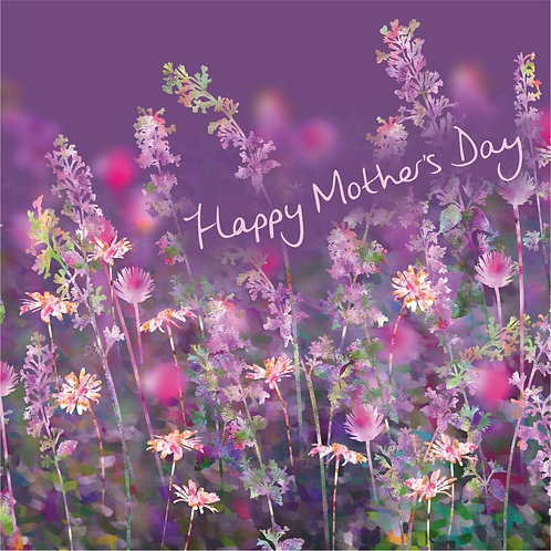 Flower Art / Floral Mother's day / Mothering Sunday Card 'The Bewitching Garden' (Catmint, Chives & Daisies)