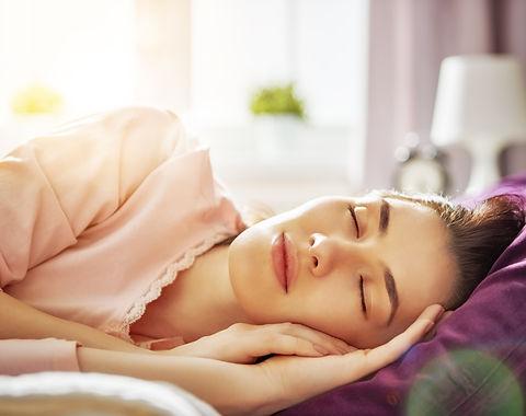 sleeping woman