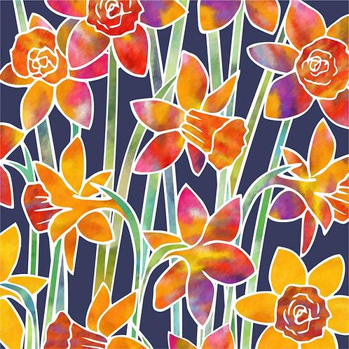 Flower Art / Floral Greeting Card 'Daffodils'