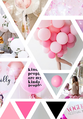 Chic Balloon Moodboard