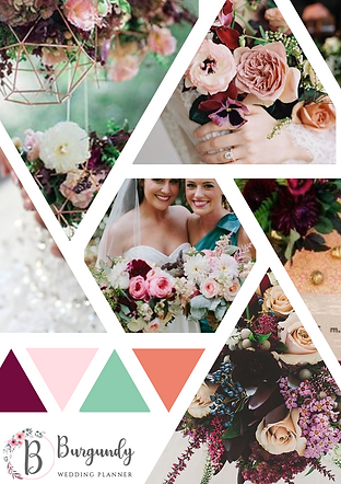 Burgundy Wedding Planner Moodboard