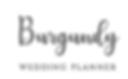 Burgundy Wedding Planner Logo