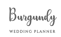 Burgundy Wedding Planner Logo
