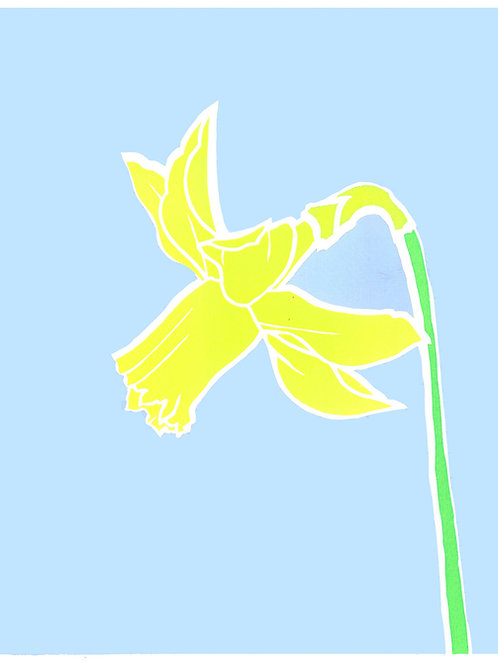 'Daffodil' Limited edition, handmade silkscreen print