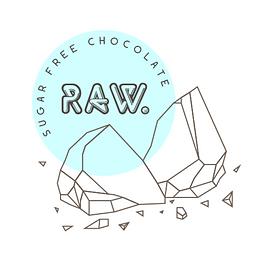 Raw. Sugar Free Chocolate Logo
