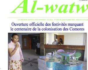 Coelacanthe à l'ouverture du centenaire de la colonisation française