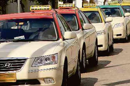 Getting a Taxi in Dubai.
