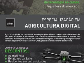 Faculdade La Salle lança a primeira pós-graduação em Agricultura Digital do Brasil