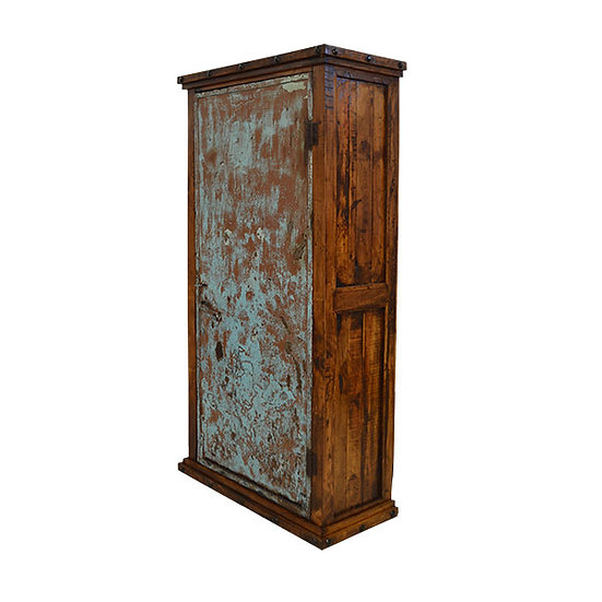 Armoire with Iron Doors accented with a Green Wash