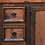 Thumbnail: Natural Copper and Wood Vanity with Drawers and Doors