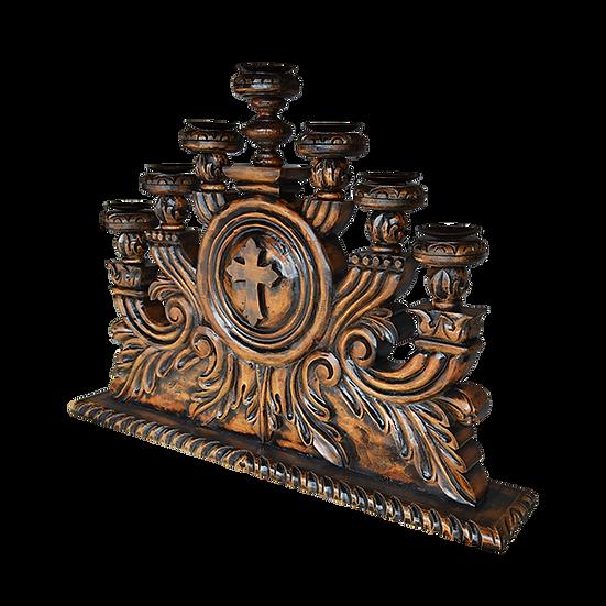 Hand Carved Candelabra