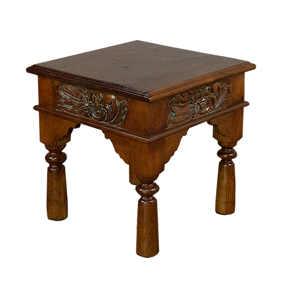Hand Carved End Table