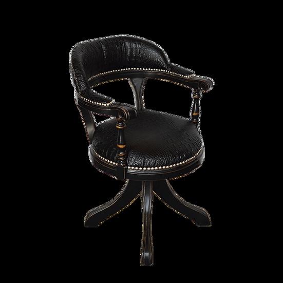 Regency Black Leather Office Chair
