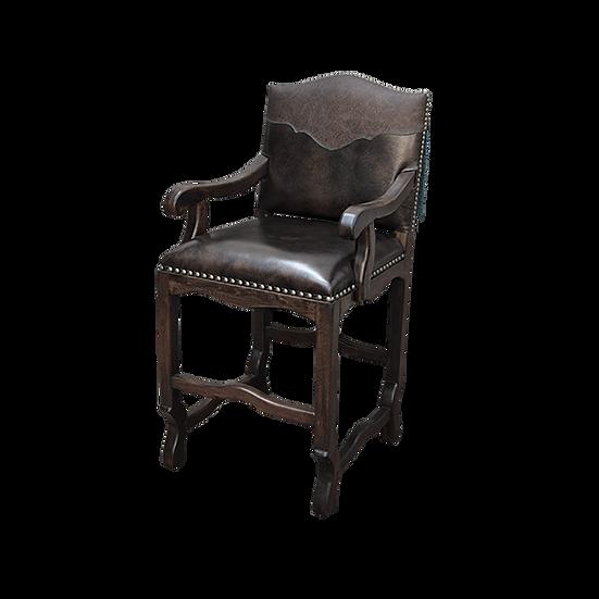 Custom Fixed Seat Leather Barstool