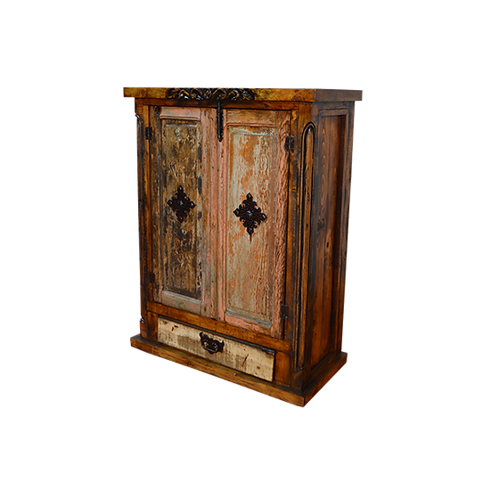 Armoire with Original Pink Wash Doors with Chapeton