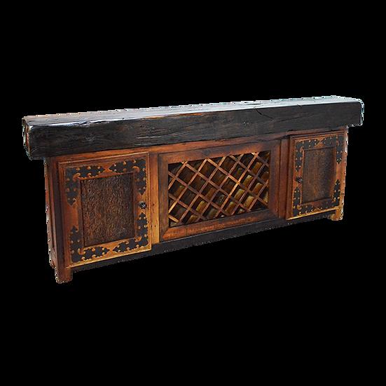 Reclaimed Wood Beam Wine Console