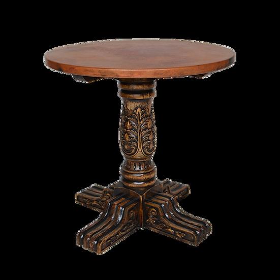 Round Copper Top Pub Table