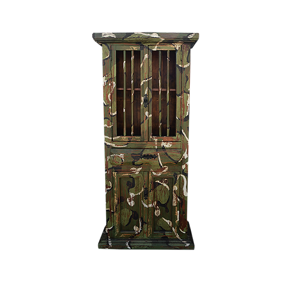 Hand Painted Camoflage  Armoire