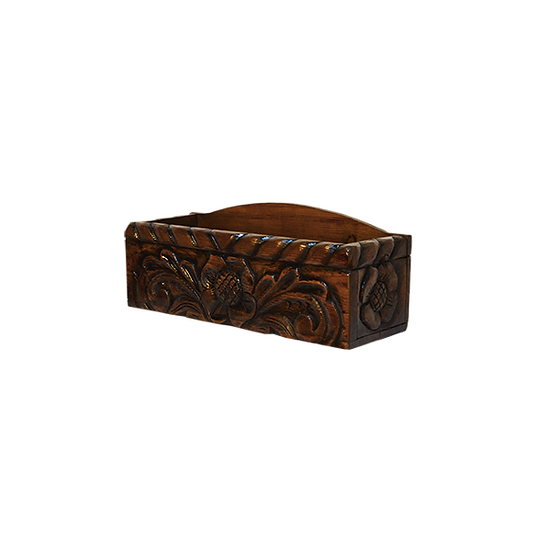 Hand Carved Wooded Trunk