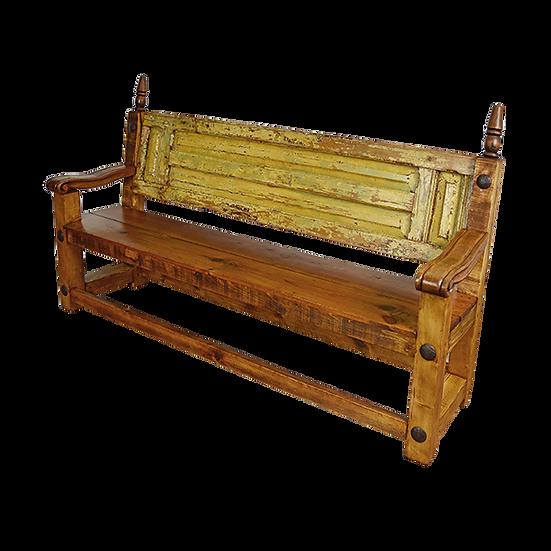 Bench Made from Original Old Door