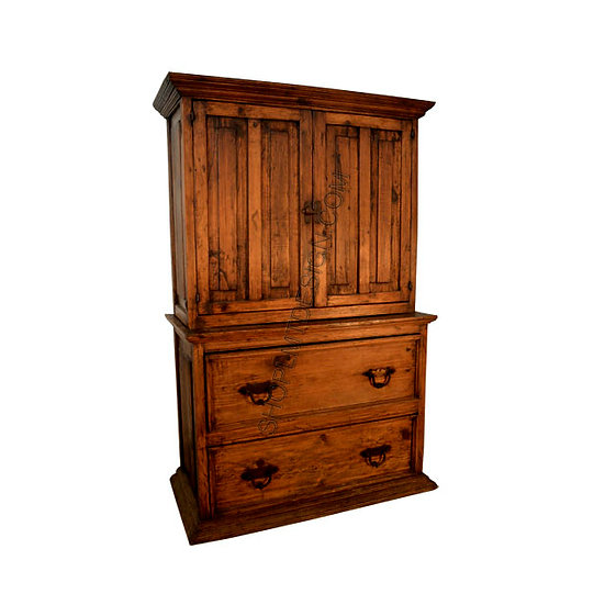 Fitted Wine Cabinet on Two Drawer Base