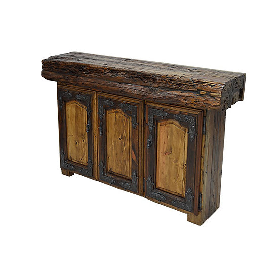 Console with Live Edge Timber Trunk Top