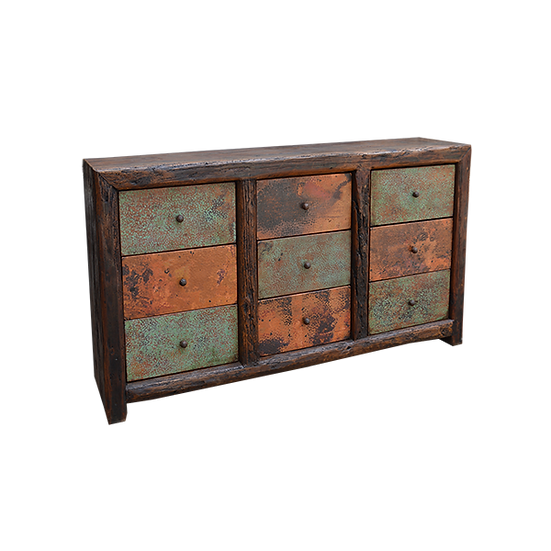 Buffet with Nine Copper Drawers