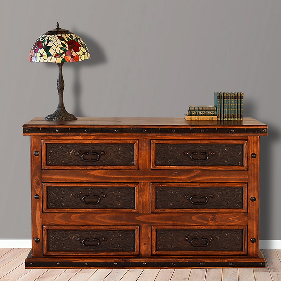 Tooled Leather Dresser