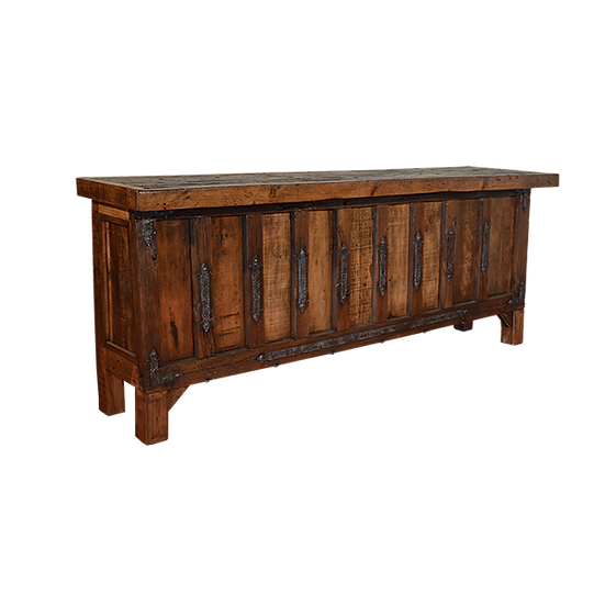 Rustic Bar with Decorative Iron Inserts