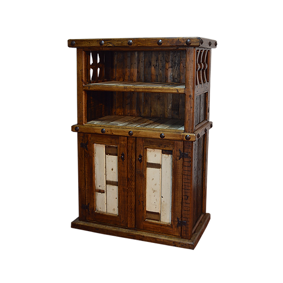 Two Level Bookshelf with Clavos