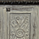 Thumbnail: Hand Carved White Distressed Open Shelf Media Cabinet