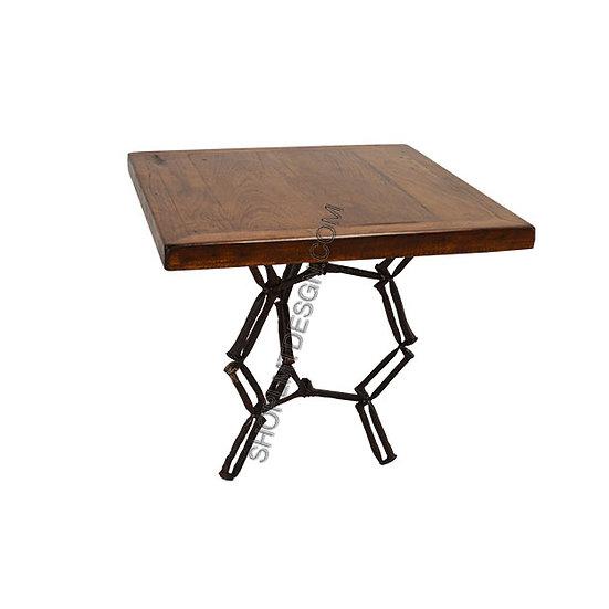 Iron Base End Table
