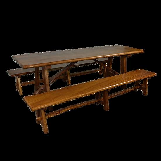 Solid Parota Wood Dining Set