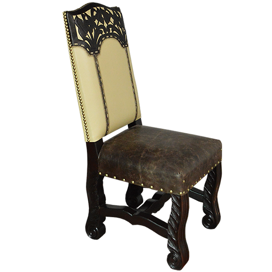 Hand Crafted Leather Dining Chair