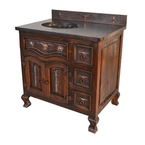 Western Style Copper Vanity with Sink